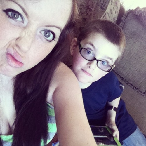 Monday chills with the lil bro 😘 #silly #sillyfaces #littlebro #lovehim #longhairdontcare #jj_forum #l4l #f4f #photooftheday #cute #kid #sister #brother