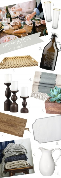 (via Hip Hostess: Cozy Night In | theglitterguide.com)