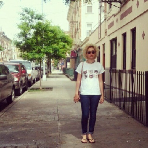 My #blonde matches the building. #ridgewood #ny #ootd #cats #fro