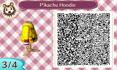 Pikachu hoodie created by cookierat pokemon qr codes for Animal crossing mural