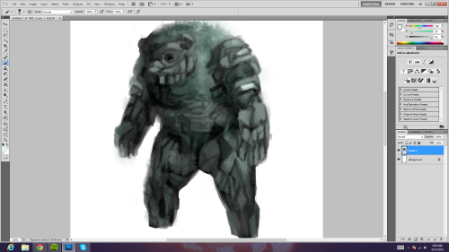 btw drawing my own colossus but in reality working on details/rendering/texturizing uh yeah its a bear. i'm not as creative atm.