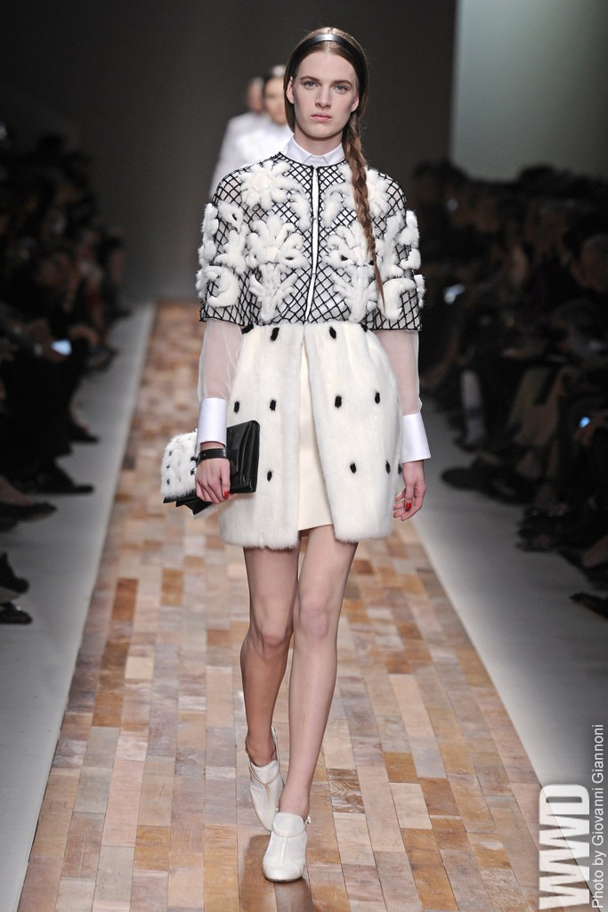 womensweardaily:  Paris Runway Trend: White Shoes Valentino RTW Fall 2013