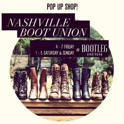 Today! @bootunion pop up 1-4 at #bootlegairstream. #shoesale #vintage #boots #nashville #bootunion #shoes