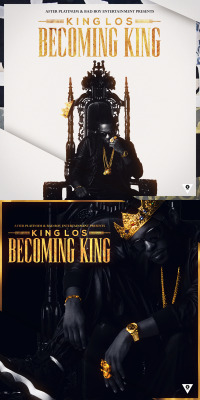 "KING LOS ""BECOMING KING(ABSTRACT WHITE/BLACK)"" COVER_ARTWORK. (2013)*Tool : Adobe Photoshop & After Effect CS 3"