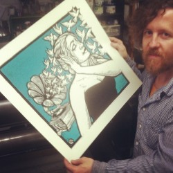 peternevins:  The next big #woodcut print. (at Flight 64 Print Studio)