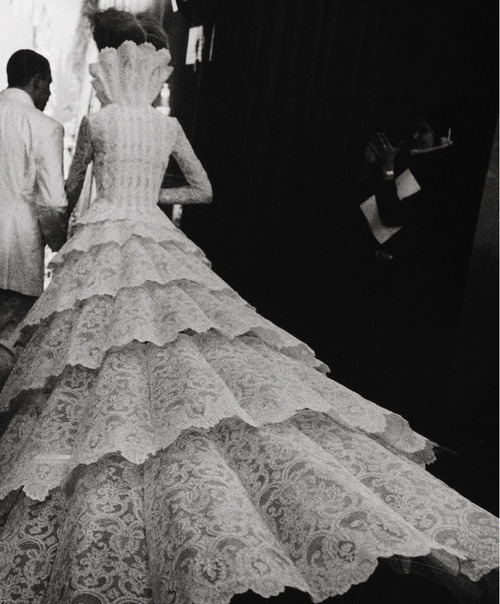 "stylejourno:  Backstage at Givenchy Haute Couture A/W 1998. Photograph taken from ""Love Looks Not With The Eyes"""
