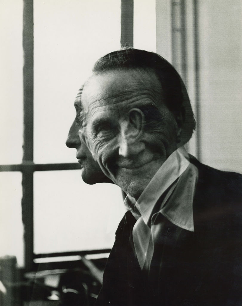 blue-voids:  Victor Obsatz - Portrait of Marcel Duchamp, 1953