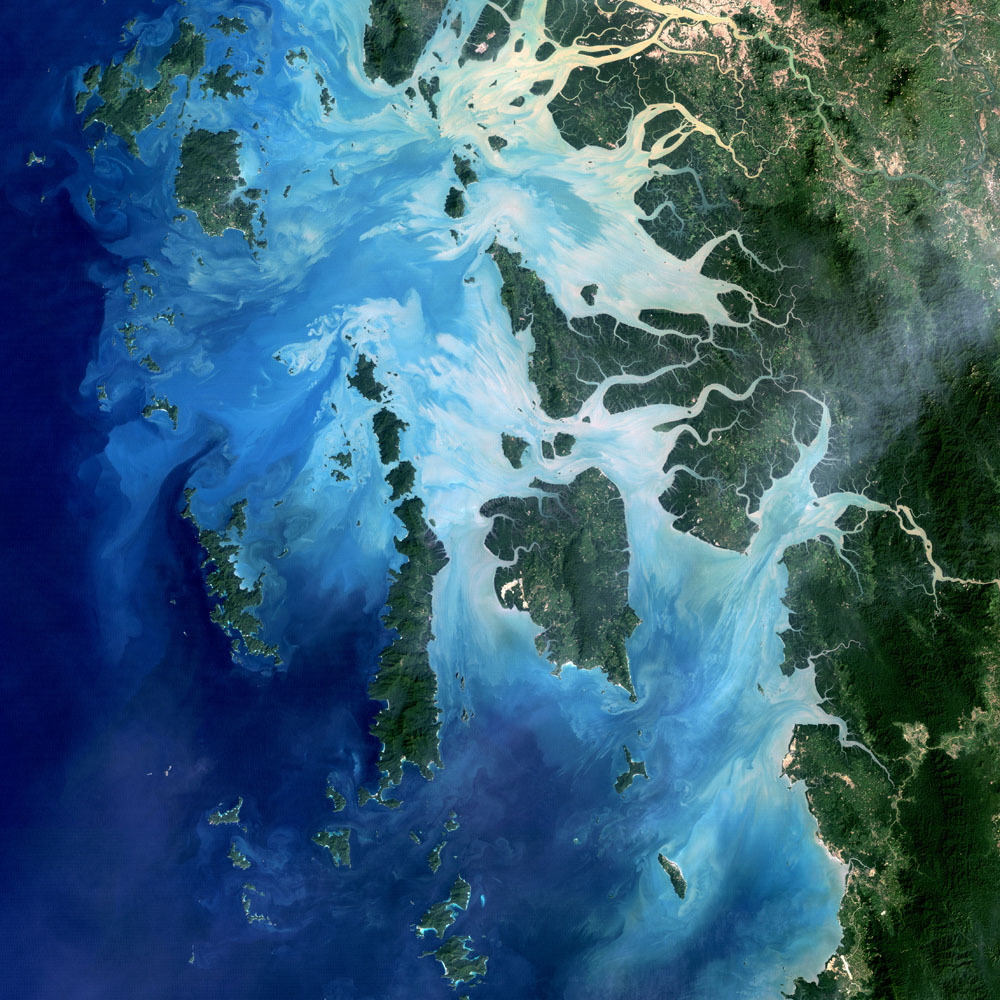 "Mergui Archipelago, Myanmar ""The longest-operating Earth observing satellite is ending its mission after nearly 29 years, more than 150,000 orbits and 2.5 million images. Landsat 5 outlived its planned 3-year operation almost 10 times over, saving the continuity of the Landsat mission. Landsat 5's longevity became critical after Landsat 6 failed to reach orbit in 1993. The U.S. Geological Survey was able to rescue the satellite from failures several times over the years, but recently a broken gyroscope has permanently hobbled the aging craft. Landsat 7, launched in 1999 and also well past its planned 5-year mission, is still keeping an eye on the planet until Landsat 8's launch, which is planned for February 2013. To celebrate this mighty spacecraft's contribution to our understanding of the Earth, here are some of our favorite images Landsat 5 has taken over its three decades in space."" -29 Years of Beautiful, Inspiring and Important Images of Earth from Space 