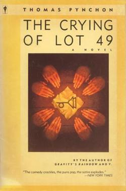 paperback art for The Crying of Lot 49 by Thomas Pynchon. Harper & Row, 1980s.