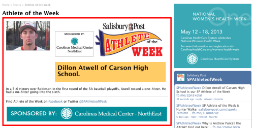 Athlete of the Week!http://www.salisburypost.com/sports/athlete-of-the-week