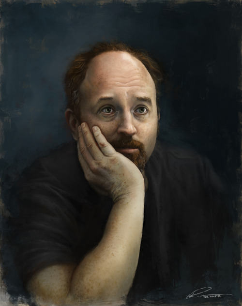 Classic Portrait of Louie CK, the current genius of comedy  (Pavel Sokov)