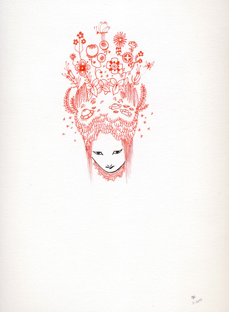 Another little red drawing. (P.S. My giveaway ends tomorrow! Details here.)