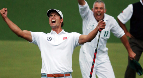 When we saw how HOT Masters winner Adam Scott was…
