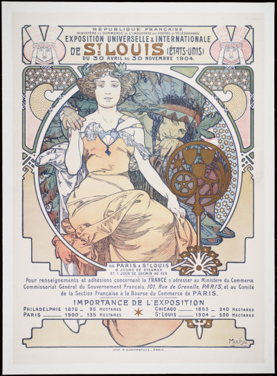 shellytotter:  Title: Exposition universelle & internationale de St. Louis (Etats-Unis), du 30 Avril au 30 Novembre 1904 Author: Mucha, Alphonse Marie, 1860-1939 Place of origin: Paris Publisher: F. Champenois Date [1903] Source: General Modern Collection, Beinecke Rare Book and Manuscript Library, Yale University.