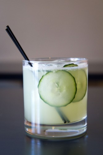 My kinda cocktail. Someone please bring me seven of these, ASAP. canttuchthis:  north shore distillery // the goliath 2 oz gin 1 oz fresh lime juice 1/2 oz simple syrup 1/4 oz green chartreuse 4-5 slices cucumber combine in shaker, and shake hard, making sure to break up the cucumber thoroughly. strain over one large ice cube in a double-rocks glass. top with soda, and garnish with cucumber slices [via]