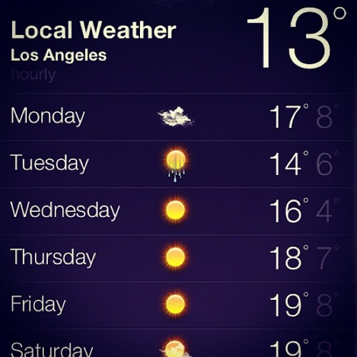 tuliooliveira   #LosAngeles    Motherfucker, in the States, we use Fahrenheit.