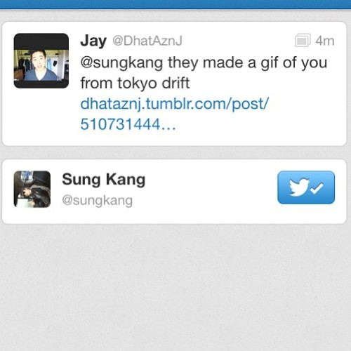 Han from fast and the furious tokyo drift favorited my tweet #nice