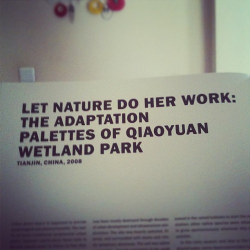 Let nature do her work:the adaptation palettes of #Qiaoyuan #WetlandPark #turenscape #architecture #design #nature
