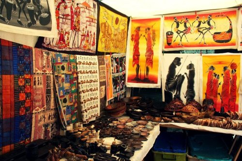 Kenyan art stall  Stellenbosch, South Africa