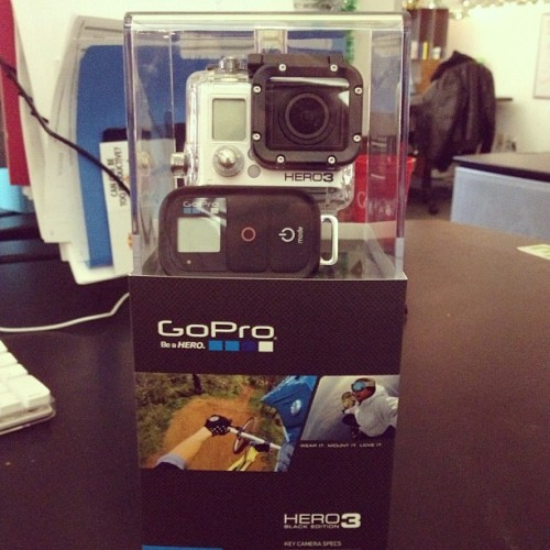 Just got my @GoPro Hero 3 Black Edition. So excited.