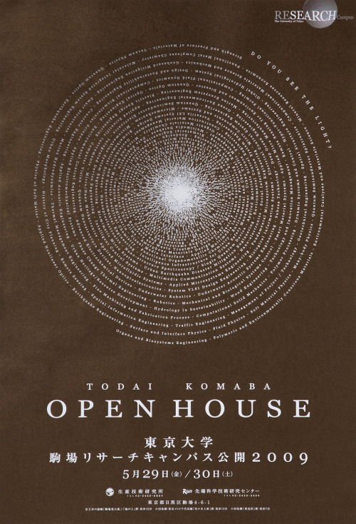 Japanese Poster: Open House. NOSIGNER. 2009
