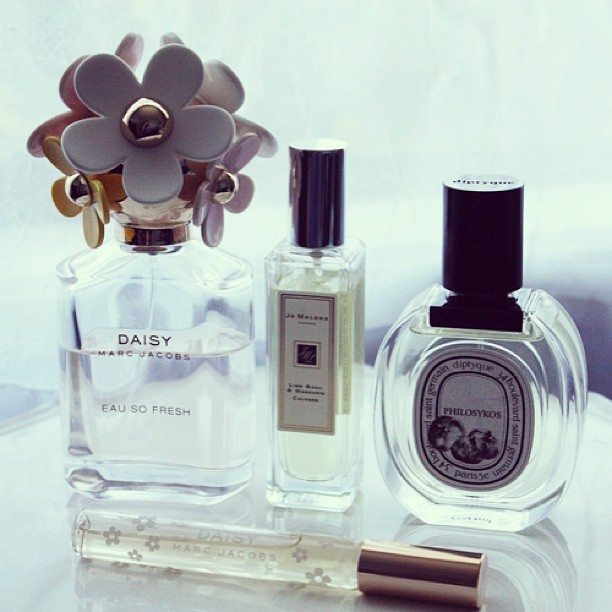 The Perfume Roster, now on the blog. #jomalone #diptyque #marcjacobs