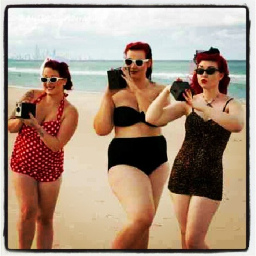 Love this! Im proud to be curvy! #pinupgirls #curvygirls #beach #beauty #1950s #retro #instagood #instadaily