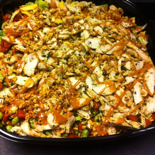 look at this amazing Thai Chopped Chicken Salad I made for an order today #foodporn
