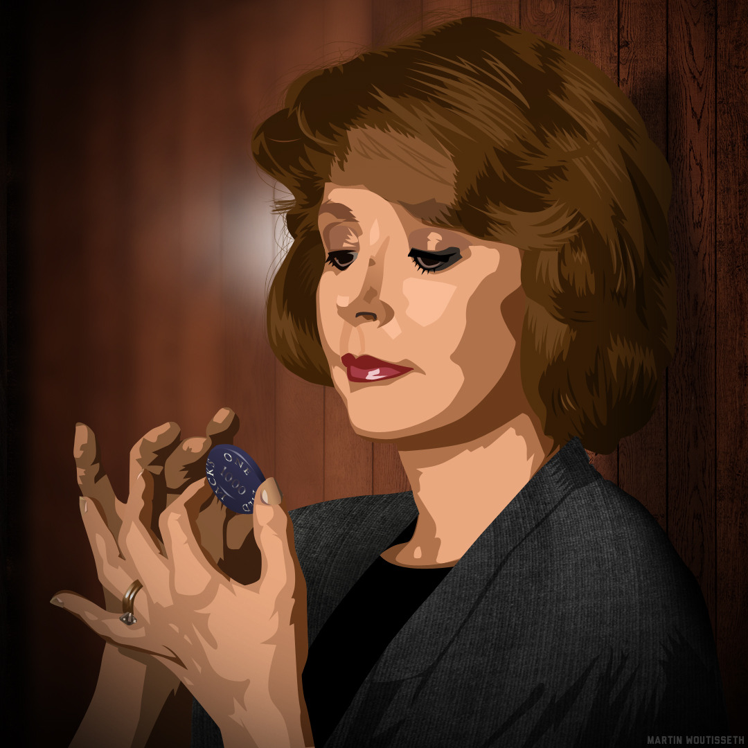 Twin peaks illustrated - Catherine Martell by Martin Woutisseth