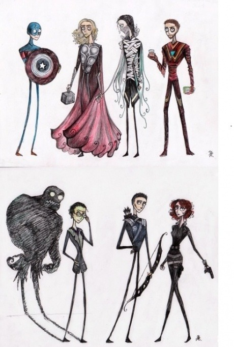 tvmannetjie:  If Tim Burton made Avengers.