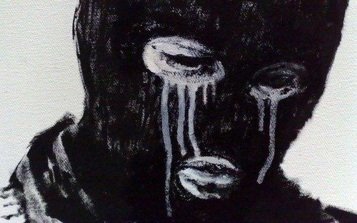 balaclava crying juxtaposition mask masked tears facecovered identityhidden