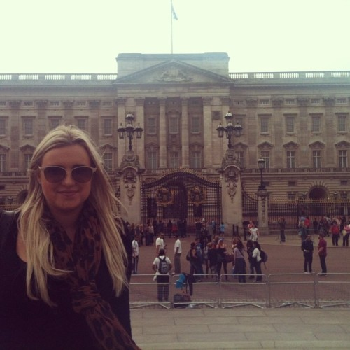 Some old hag lives here or something (at Buckingham Palace)