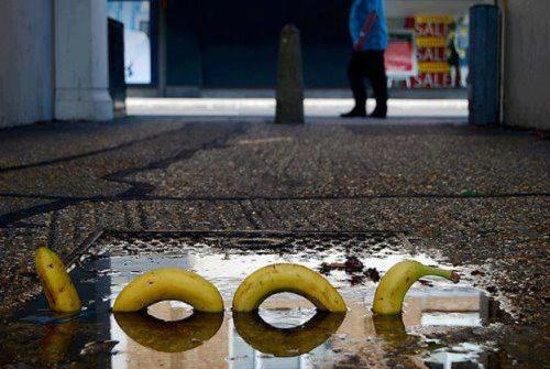 findus:  pulseartfairs:  Banana street art in Germany.   Germany = Banana Republic