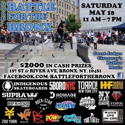 homage-brooklyn-skateboard-shop:  THE BATTLE FOR THE BRONK CONTEST! This Saturday May 18th 11am - 7pm @n8otb @dwaynnesk8z @josephdelgado #homagebrooklyn #skatelife #skateboarding #likeforlike #supportyourlocalskateshop (at Homage)