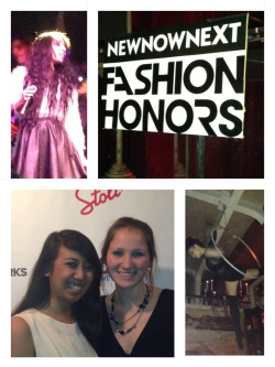 Got to tag along to New Now Next's Fashion Honors and hear Wynter Gordon perform!