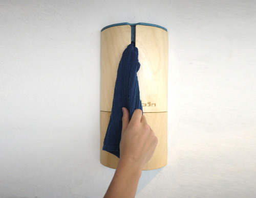 BIN: Cloth towel container, dispenser and hanger.