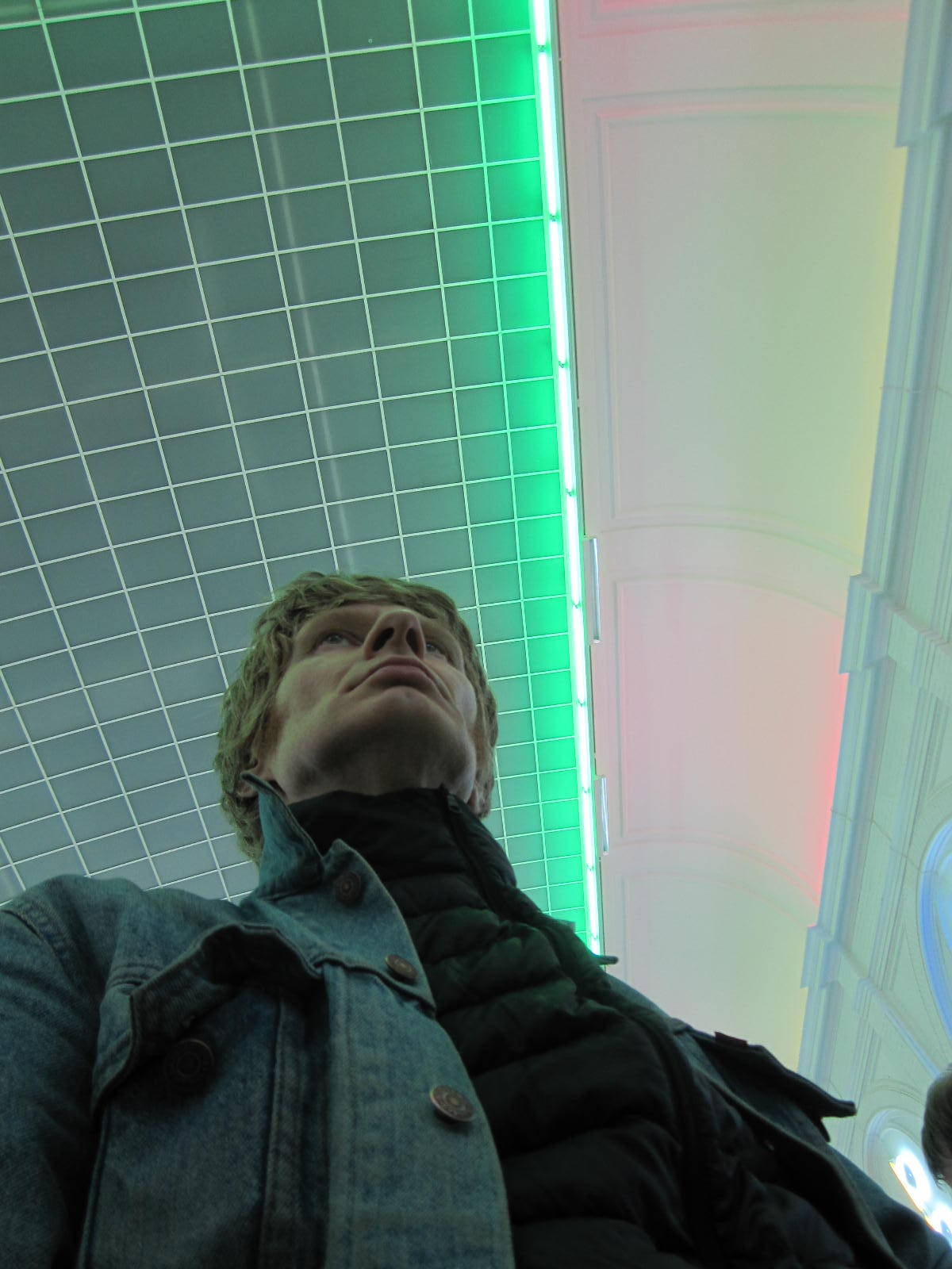JGT at Stedelijk Museum, Dan Flavin installation, where freq_out 9 took place on 2/21/13 for the Sonic Acts Festival