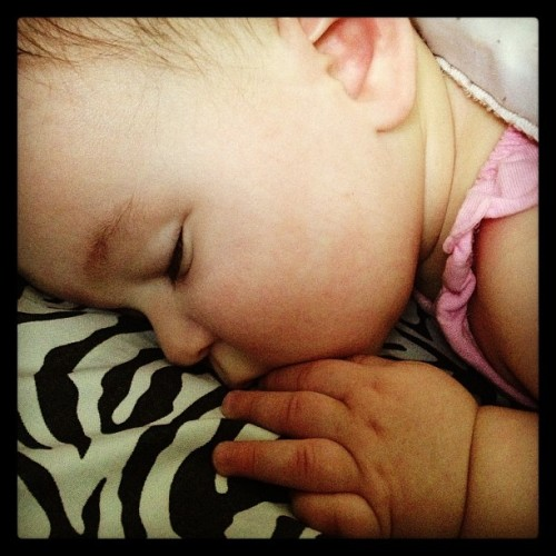 It's nap time. 👶😴 #graciebaby