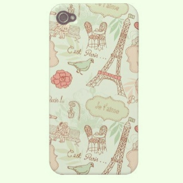 I waant! :( 😍😘 (c) to the owner #Paris #case #vintage #cute #iphone #love #igdaily #want