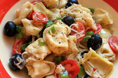 Tortellini Pasta Salad by hotcakesSL on Flickr.