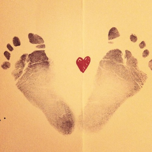 My nephew's footprints #awww