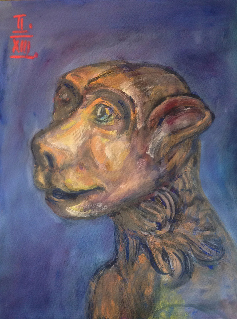 bblacha:  romanesque gargoyle, gouache 36x48cm, Feb/2013 #berndblacha on Flickr.