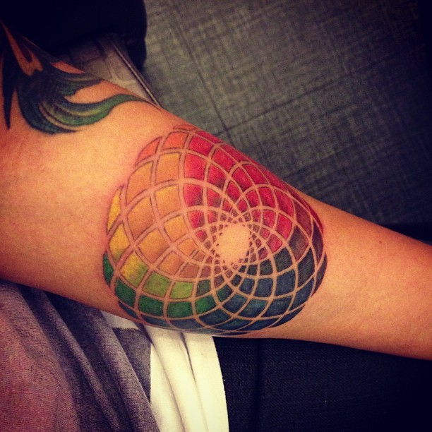 fuckyeahtattoos:  My Color wheel tattoo. Done by Daniel Torres of Juan Love Tattoo and Piercing in Quezon City, Philippines.