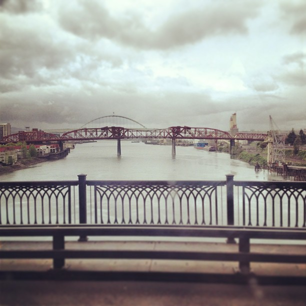 #home #pdx #love #beautiful #bridge #city #river #photography  (at Steel Bridge)