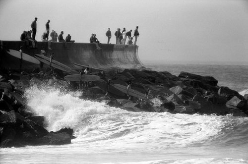 Leroy Grannis: Hittin' It, Redondo Breakwater, 1963. It's summertime!