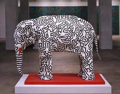 Keith Haring Untitled(Elephant) 1985 For a day without art…