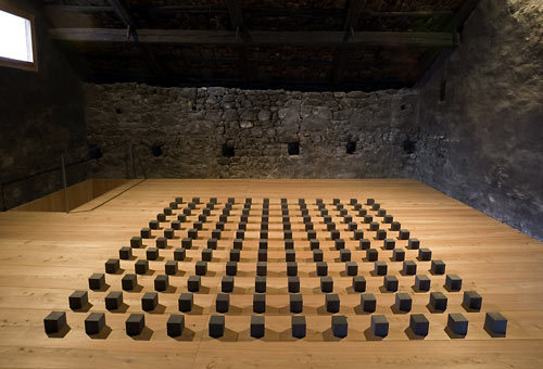 Carl Andre 144 Graphite Silence 2005  I am glad I didn't have to source materials for this, although it is gorgeous.