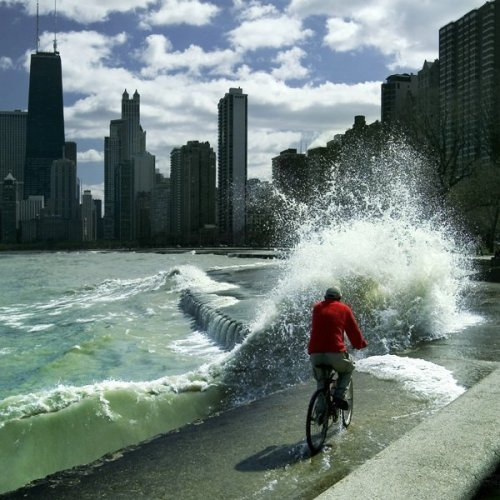 Chicago's Lake Michigan waterfront via sds: davidkendall