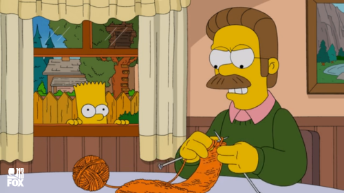 Craftsploitation! Angry Knitting in The Simpsons