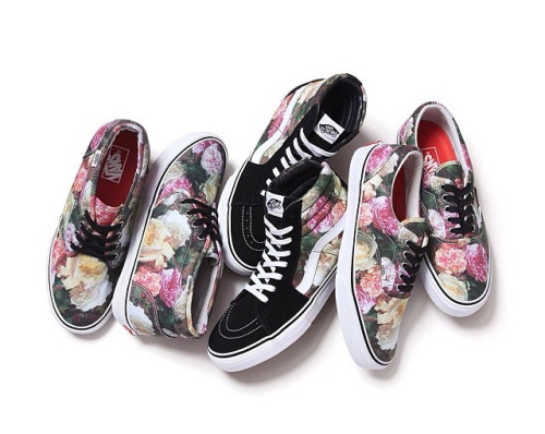 Supreme x Vans  Why do these have to be coming out when I'm broke? Story of my life, I swear.   Supreme teams up with Vans once again to drop some of the cleanest kicks I've geeked over in a while. I'm a sucker for floral print, and this pattern strikes a chord with me elsewhere. Not only is it a dope floral pattern, but it's also a floral pattern derived from a painting used by the band New Order for their album Power, Corruption & Lies. The album cover was designed by Peter Saville who is most known for his design work for Joy Division, New Order, and Factory Records.   So my sneaker/fashion nerd sensibilities are being touched upon, and my love (obsession) for music is being abused.   Thanks Supreme. Couldn't have dropped these a week ago when I had money?  ZN XXX